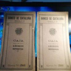 Documentos bancarios: LIBRETAS DE AHORRO BANCO DE CATALUÑA 1925 NÚMEROS 300 Y 301. Lote 180087168