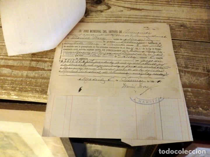 Documentos bancarios: MADRID, 1894, DOCUMENTOS BANCARIOS DE LA SOCIEDAD MINERO INDUSTRIAL DE ALMERIA - Foto 2 - 180128336