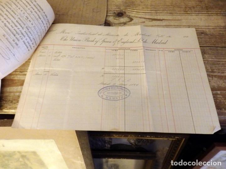 Documentos bancarios: MADRID, 1894, DOCUMENTOS BANCARIOS DE LA SOCIEDAD MINERO INDUSTRIAL DE ALMERIA - Foto 3 - 180128336