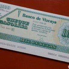 Documentos bancarios: CHEQUES GASOLINA BANCO DE VIZCAYA.. Lote 180141900
