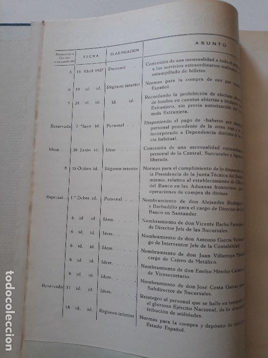 Documentos bancarios: Circulares emitidas por el Banco de España 1936 - 1937. Burgos. Guerra civil. Encuadernadas - Foto 3 - 180195377