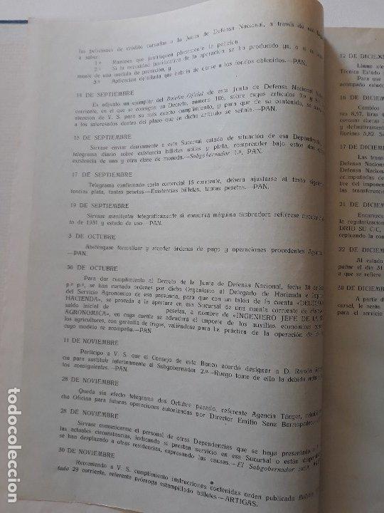 Documentos bancarios: Circulares emitidas por el Banco de España 1936 - 1937. Burgos. Guerra civil. Encuadernadas - Foto 8 - 180195377