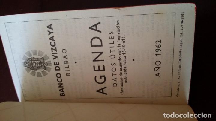 Documentos bancarios: ANTIGUA AGENDA 1962 BANCO VIZCAYA BILBAO DATOS ÚTILES CON LAPICERO Y COMPLETA Y SIN USAR - Foto 4 - 180216365
