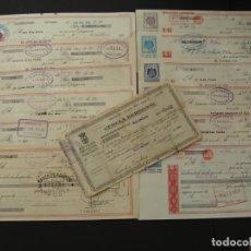 Documentos bancarios: COLECCIÓN DE 12 LETRAS DE CAMBIO Y UNA CÉLULA - SALIDA 0,01€. Lote 181458546