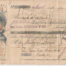 Documentos bancarios: MADRID 1915 PAGARÉ DE LA PAPELERA ESPAÑOLA DE BILBAO.. Lote 182875818