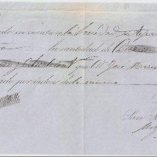 Documentos bancarios: SAN SEBASTIÁN (GUIPUZCOA) 1865 PAGARÉ DE MIGUEL OLASCOAGA DE RENTERÍA.. Lote 182877346