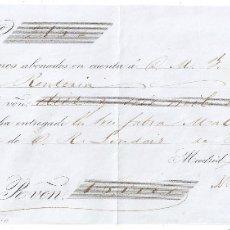 Documentos bancarios: MADRID 1864 PAGARÉ DE MIQUELETORENA HERMANOS DE RENTERIA. Lote 182877722