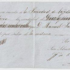 Documentos bancarios: SAN SEBASTIÁN (GUIPUZCOA) 1871 PAGARÉ DE J.LEÓN HIJO MAYOR DE RENTERÍA.. Lote 182878568