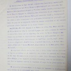 Documentos bancarios: ESCRITURA LORCA PROTESTO LETRA DE CAMBIO AÑO 1934 INCLUYE LETRA. Lote 183211485