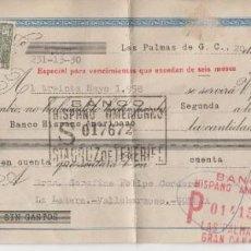Documentos bancarios: 1957 RARA LETRA DE CAMBIO ESPECIAL PARA VENCIMIENTOS QUE EXCEDAN DE 6 MESES CLASE 11ª BIS 0,80 PTS. Lote 183419786