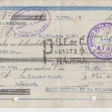 Documentos bancarios: 1959 RARA LETRA DE CAMBIO VENCIMIENTOS EXCEDAN 6 MESES CLASE 1ª BIS 240 PTS HABILITADA PARA CLASE 5ª. Lote 183423495