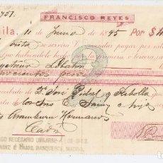 Documentos bancarios: MANILA (FILIPINAS) 1895 PAGARÉ DE FRANCISCO REYES.. Lote 183721171