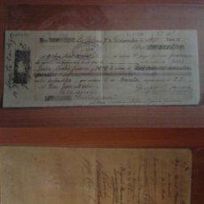 Documentos bancarios: LETRA DE CAMBIO,1896,DIEGO BORRERO REDONDO ,HUELVA. Lote 277069858