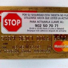 Documentos bancarios: TARJETA DE CREDITO,BANCO SANTANDER,MASTERCARD ORO,ANTARTICA-ARTIC OCEAN.SIN UTILIZAR.. Lote 184843217