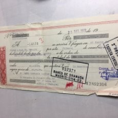 Documentos bancarios: CHEQUE BANCO GRANADA - MADRID 1972 - MERIDA - BADAJOZ. Lote 189323532