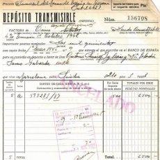 Documentos bancarios: DIEZ DOCUMENTOS BANCO ESPAÑA Y BANCO HISPANO COLONIAL DE ACCIONES DE 1935 A 1944. Lote 190808193