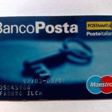 Documentos bancarios: TARJETA BANCARIA,MAESTRO BANCO POSTA-POSTAMAT-POSTEITALIANE.. Lote 191866158