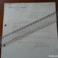 Documentos bancarios: GUERRA CIVIL, 4 SEPTIEMBRE 1937, REQUERIMIENTO BANCO CENTRAL RETIRADA DE ALHAJAS METALES PRECIOSOS. Lote 192045737