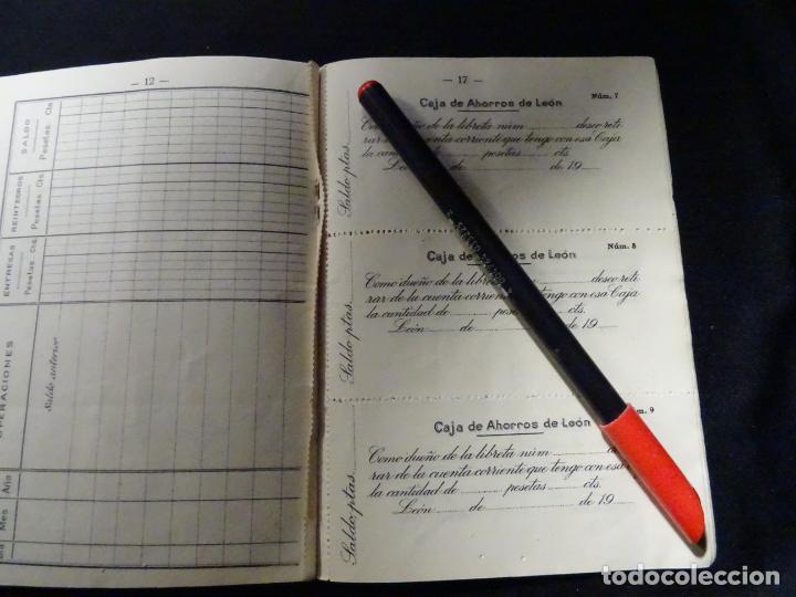 Documentos bancarios: libreta de la caja de ahorros de leon, año 1935, astorga.banco - Foto 6 - 192855376