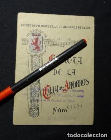 LIBRETA DE LA CAJA DE AHORROS DE LEON, AÑO 1935, ASTORGA.BANCO (Coleccionismo - Documentos - Documentos Bancarios)