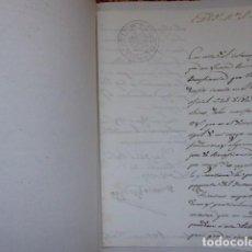 Documentos bancarios: DOCUMENTO DE AYTA, DE PEÑARRUBIA MALAGA,DE 1853, RARO, VER MAS. Lote 193002610