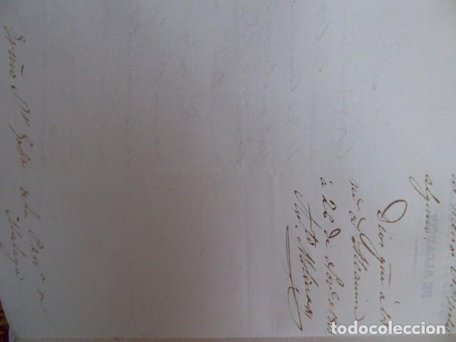 Documentos bancarios: documento de beneficencia de alcaldia constitucional de alcaucin, malaga, - Foto 3 - 193003197