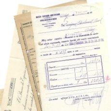 Documentos bancarios: ALCOY (ALICANTE) LOTE 5 DOCUMENTOS BANCARIOS GUERRA CIVIL BANCOS HISPANO, ESPAÑOL Y BILBAO. Lote 193642052