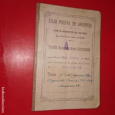 Documentos bancarios: CARTILLA CAJA POSTAL DE AHORROS 27 ABRIL 1936 DIFERENTES SELLOS Y TAMPONES. Lote 224088951