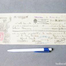 Documentos bancarios: PAGARÉ DEL BANCO MERCANTIL. LETRA DE CAMBIO. JOSÉ BENEYTEZ. CARRILLÓN DE CALATRAVA. ALMAGRO 1926. Lote 194227575