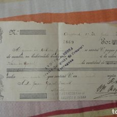 Documentos bancarios: ANTIGUO PAGARES.FRANCISCA QUERALT-CONSTANTI. JUAN GASOL QUERALT.MORELL.TARRAGONA 1912. Lote 194231421