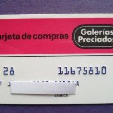 Documentos bancarios: TARJETA DE COMPRA GALERIAS PRECIADOS AÑOS 80. Lote 194332922