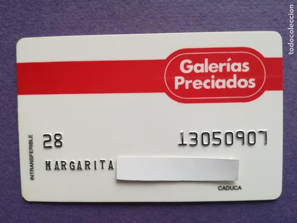 TARJETA DE COMPRA GALERIAS PRECIADOS AÑOS 80 (Coleccionismo - Documentos - Documentos Bancarios)