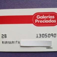 Documentos bancarios: TARJETA DE COMPRA GALERIAS PRECIADOS AÑOS 80. Lote 194333001