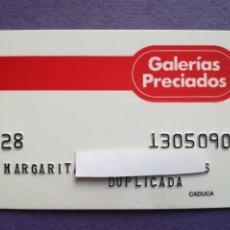 Documentos bancarios: TARJETA DE COMPRA GALERIAS PRECIADOS AÑOS 80. Lote 194333025