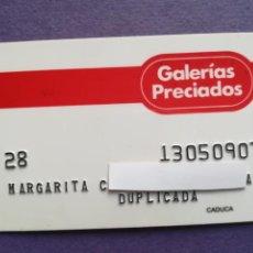 Documentos bancarios: TARJETA DE COMPRA GALERIAS PRECIADOS AÑOS 80. Lote 194333061