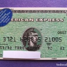 Documentos bancarios: TARJETA AMERICAN EXPRESS 1992. Lote 194333336