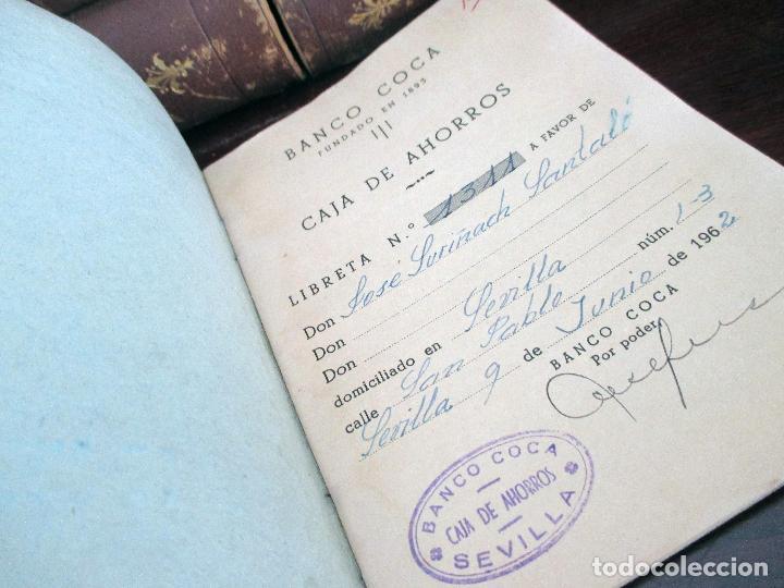 Documentos bancarios: BANCO COCA. LIBRETA CAJA DE AHORROS. SEVILLA 1962 - 1966. - Foto 2 - 194527097