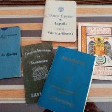 Documentos bancarios: ANTIGUAS LIBRETAS DE AHORRO. Lote 194598942