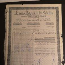 Documentos bancarios: G4. DEPÓSITO TRANSMISIBLE DE VALORES. BANCO ESPAÑOL DE CRÉDITO 1968. Lote 194637605