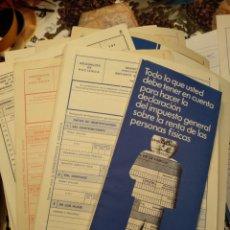 Documentos bancarios: LOTE IMPRESOS DECLARACIÓN RENTA HACIENDA AÑOS 73 A 75. Lote 194719631