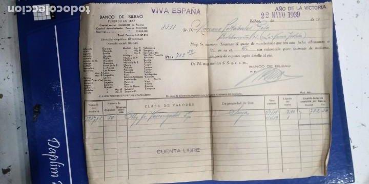 BANCO DE BILBAO 1939 DOCUMENTO BANCARIO (Coleccionismo - Documentos - Documentos Bancarios)