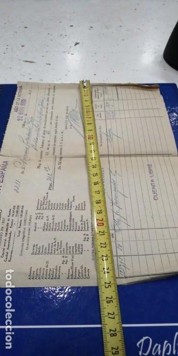 Documentos bancarios: Banco de Bilbao 1939 Documento Bancario - Foto 2 - 194723982