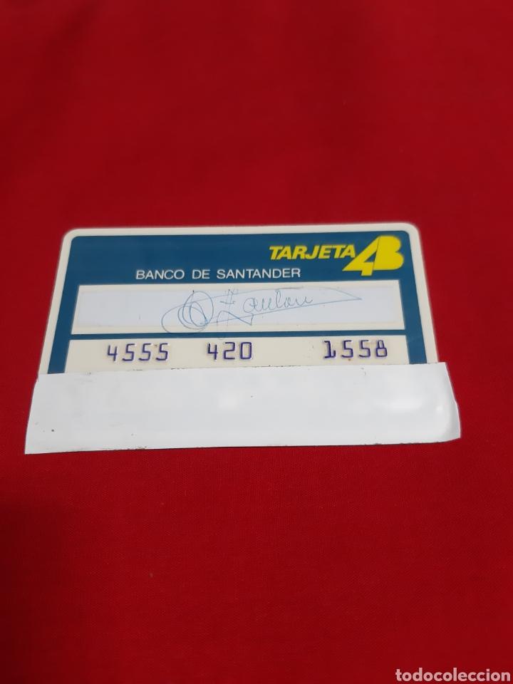 ANTIGUA TARJETA DE CRÉDITO 4B BANCO DE SANTANDER FECHA DE CADUCIDAD DICIEMBRE DEL 1977 (Coleccionismo - Documentos - Documentos Bancarios)