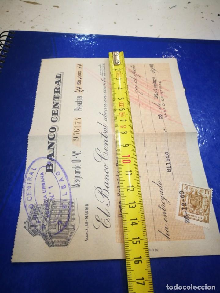Documentos bancarios: Banco Central 1960 abono en cuenta 1960 timbrado - Foto 2 - 194892285