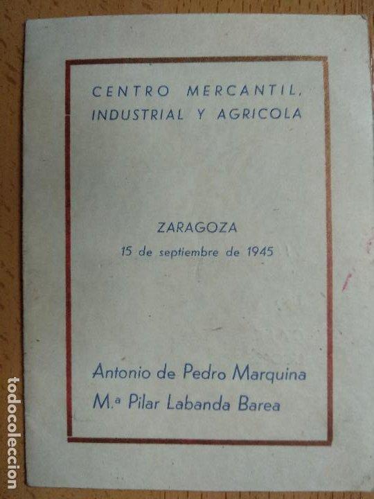 CENTRO MERCANTIL INDUSTRIAL Y AGRICOLA DE ZARAGOZA. AÑO 1945, (Coleccionismo - Documentos - Documentos Bancarios)