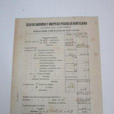 Documentos bancarios: CAJA DE AHORROS Y MONTE PIEDAD DE BARCELONA - DESEMPEÑOS - SUC. Nº 4, SAN MARTÍN - AÑO 1928. Lote 195126357