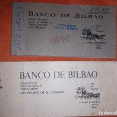 Documentos bancarios: 2 ANTIGUA CARTILLA BANCARIA BANCO DE BILBAO,AÑO 60 ,USADAS. Lote 195165526