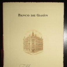 Documentos bancarios: MEMORIA DEL BANCO DE GIJÓN, EJERCICIO 1964. CON TARJETAS DE VISITA DEL PRESIDENTE Y DIRECTOR GRAL.. Lote 195215200
