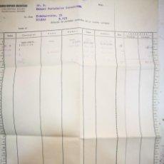 Documentos bancarios: BANCO HISPANO AMERICANO CASA CENTRAL MADRID RELACIÓN DE PARTIDAS ANOTADAS EN SU CUENTA AÑOS CINCUENT. Lote 195385898