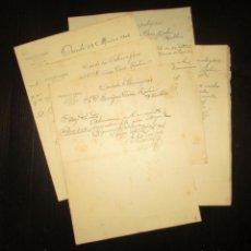Documentos bancarios: HERRERO Y CÍA., BANQUEROS, OVIEDO. DIEZ DOCUMENTOS BANCARIOS MANUSCRITOS ORIGINALES DE 1906.. Lote 195410178